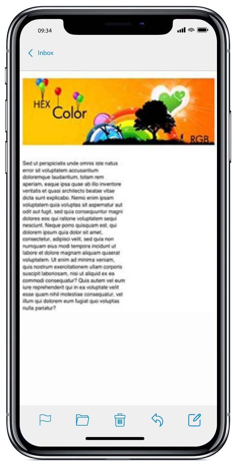 iphone email text without media queries