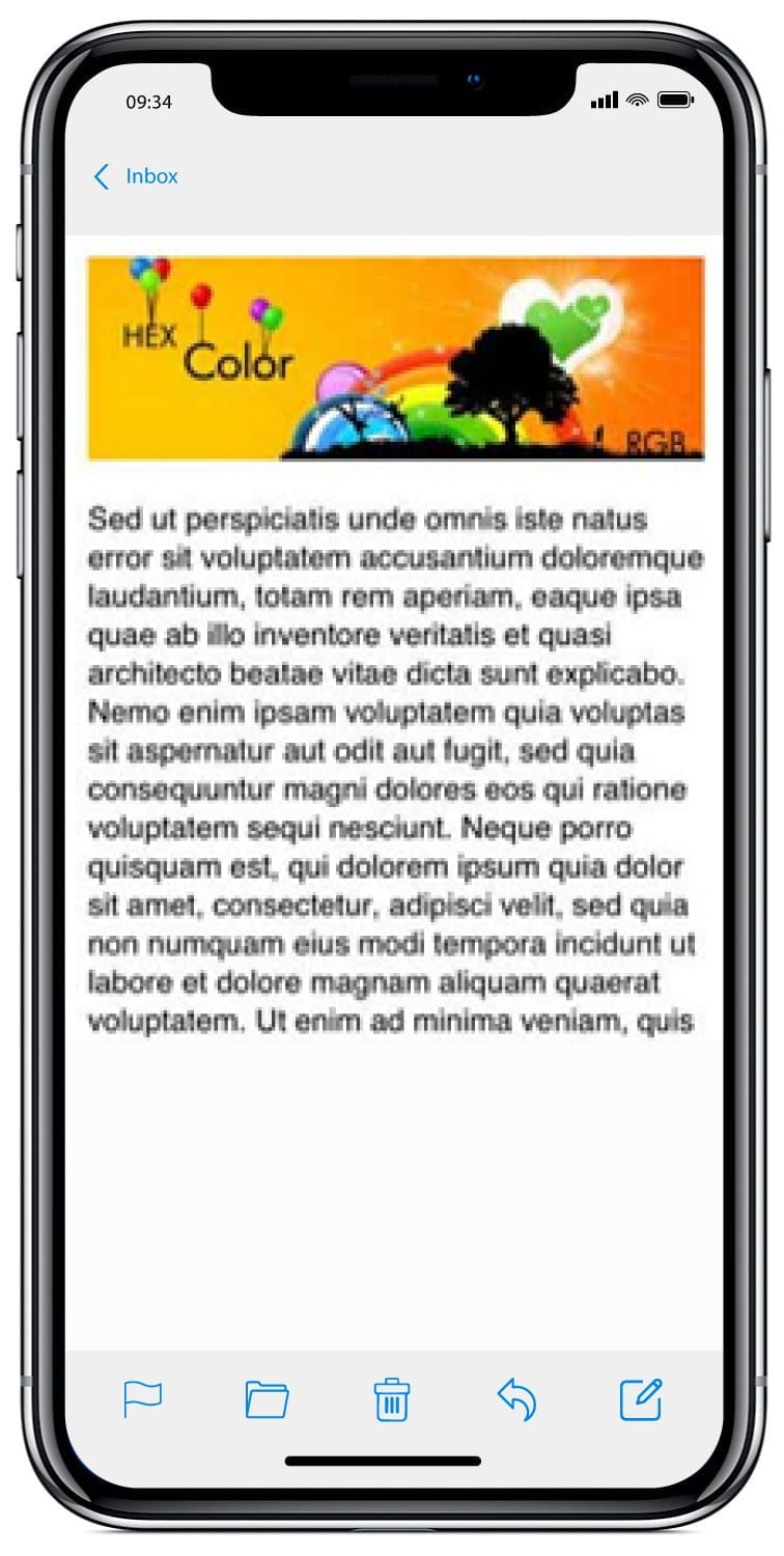 iPhone text with media queries