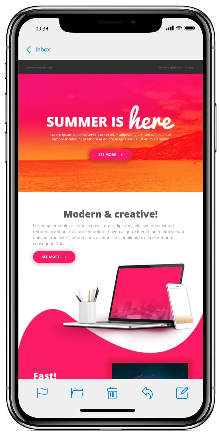 iPhone email design without media queries
