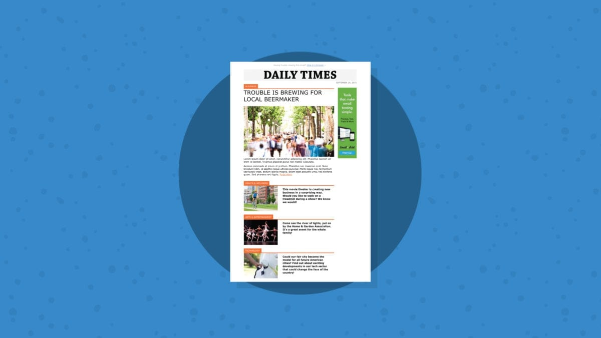 Daily Times Template