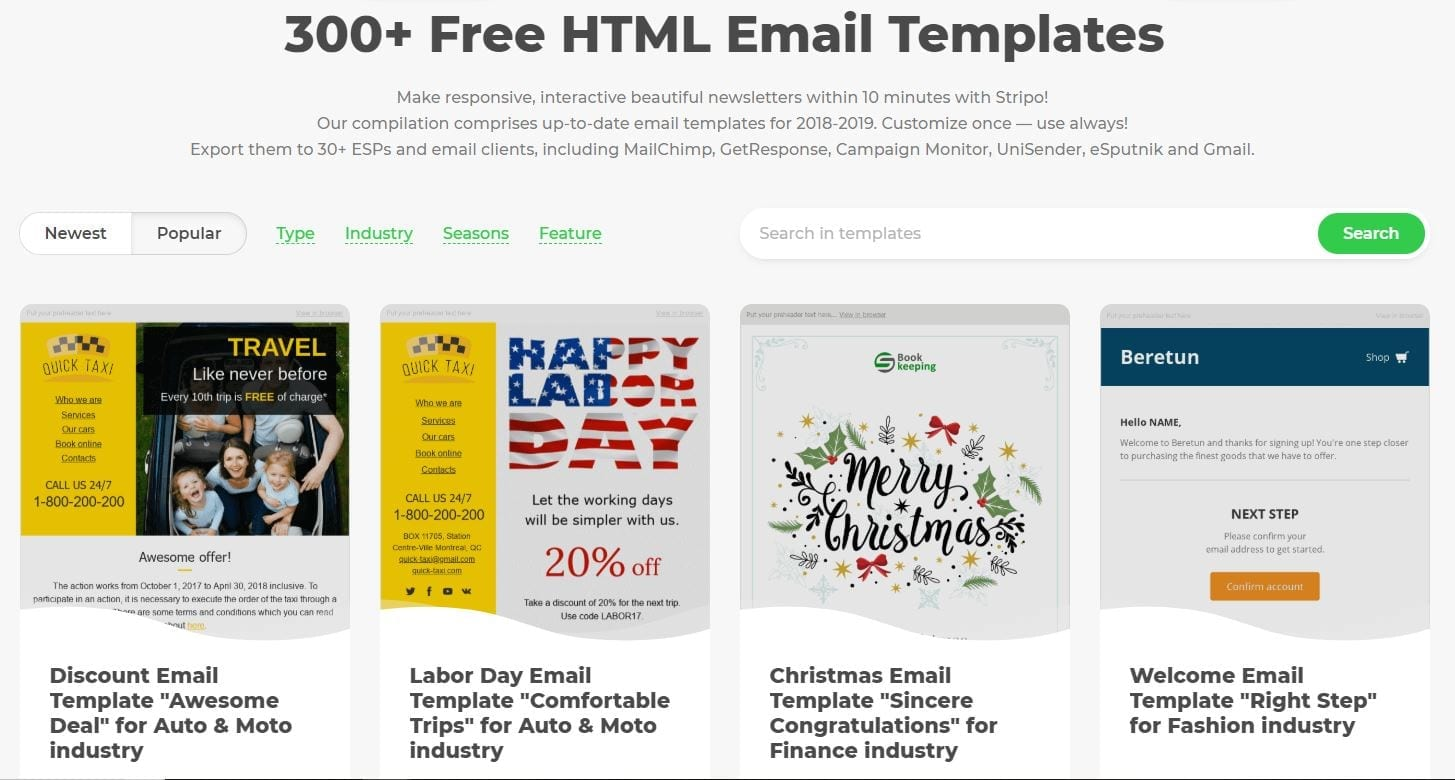 Stripo.email email templates