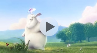 Animated bunny in the forest video for an HTML5 email