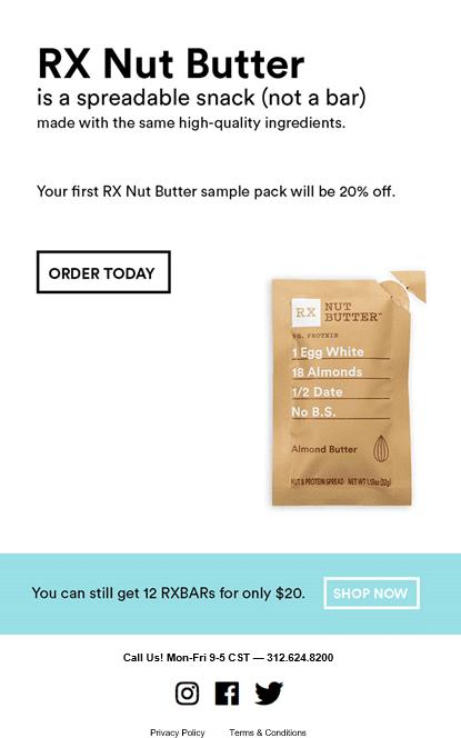 RXBAR Nut Butter Email