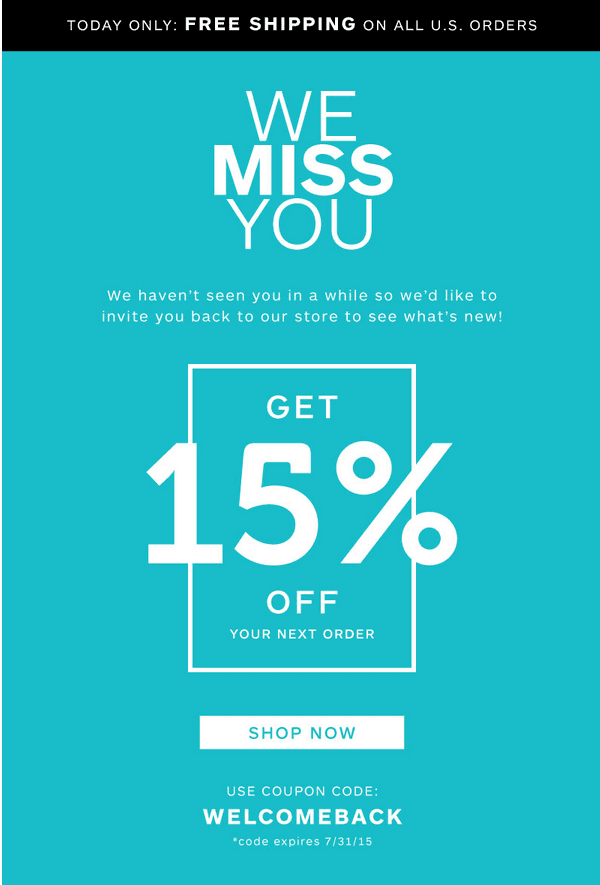 Incentive email from Sevenly