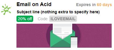 Email on Acid promotion card