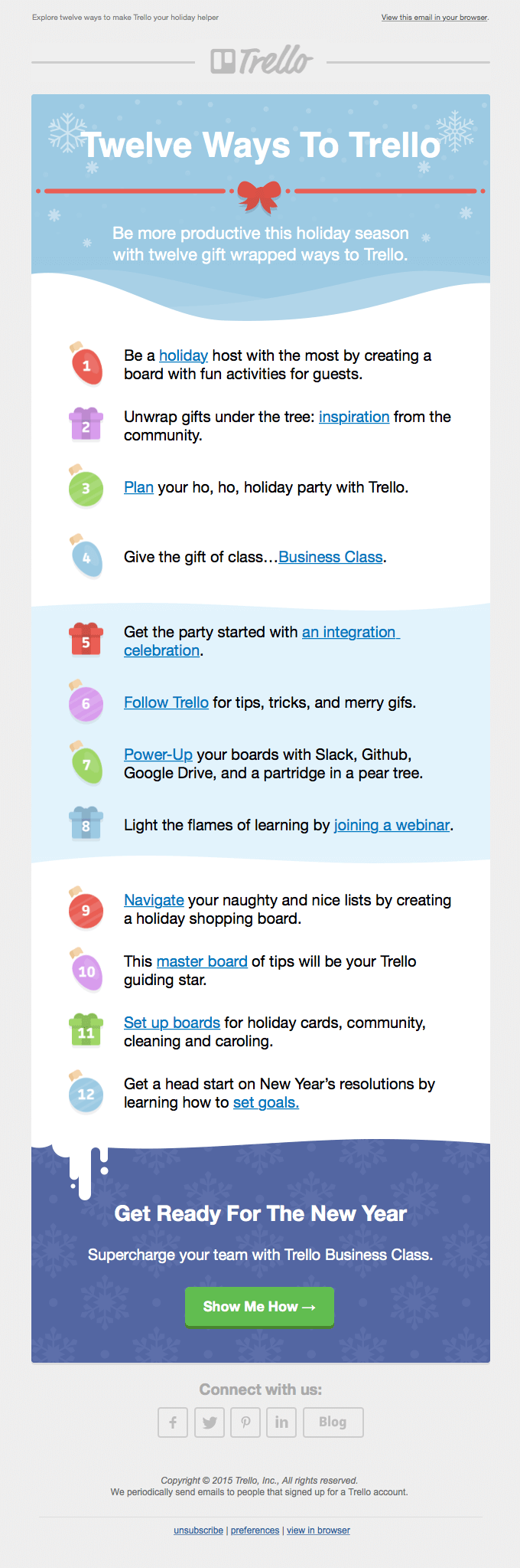 Trello Christmas email
