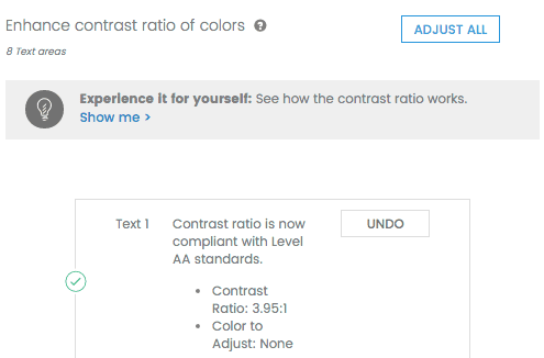 Enhance contrast ratio in email QA