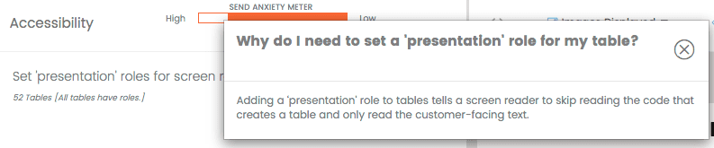 Set presentation roles in email QA