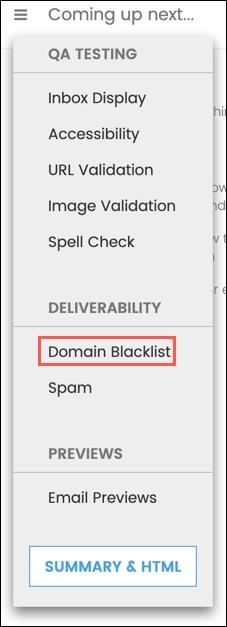 Select Domain Blacklist