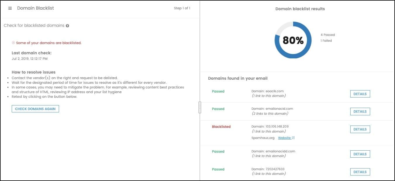 View domain blacklisting validation.
