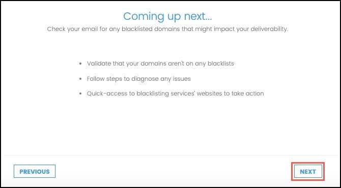 Domain Blocklist information and click next