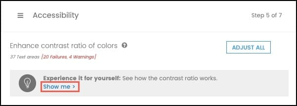 Experience contrast ratio for yourself