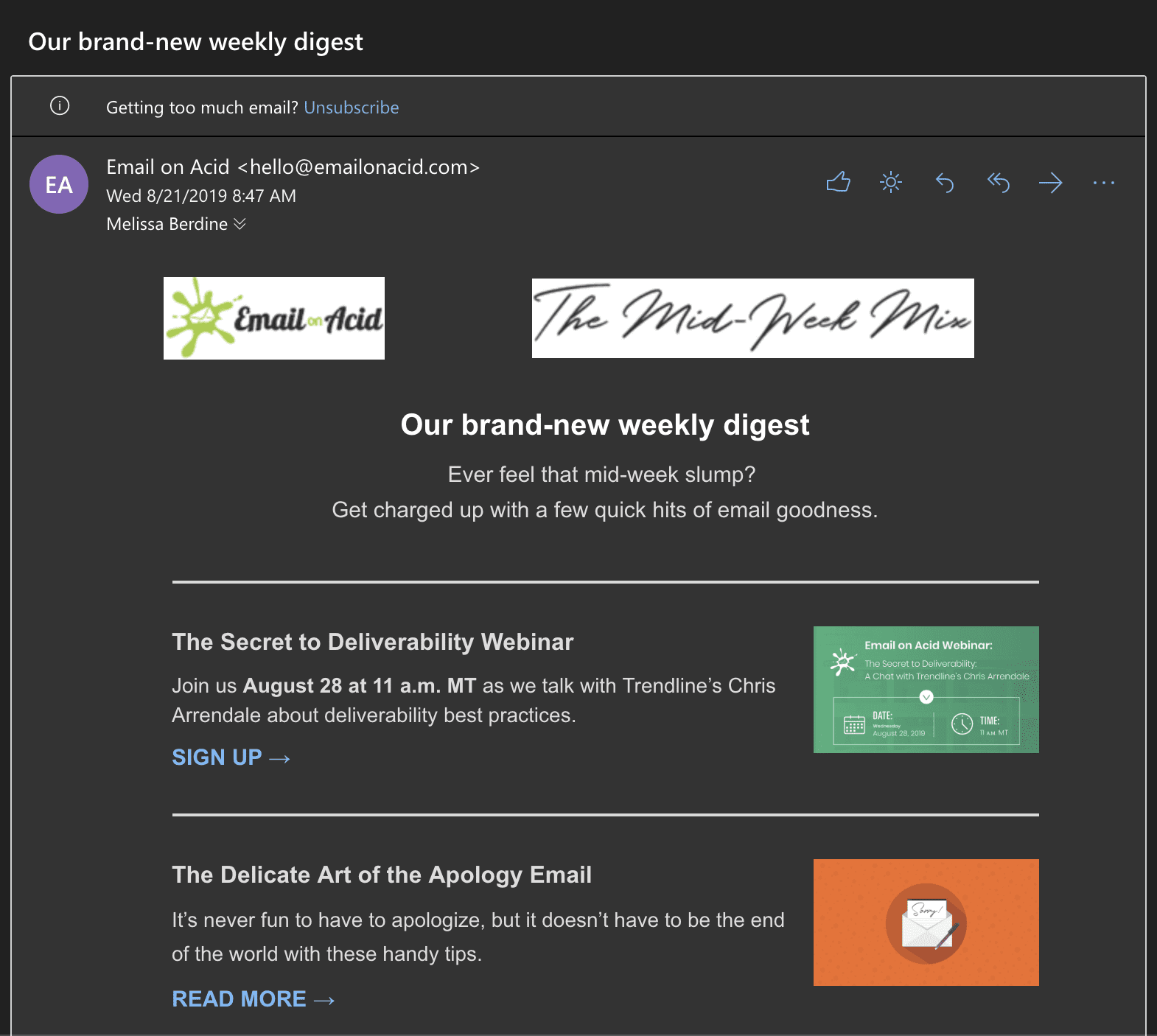Email in Dark Mode