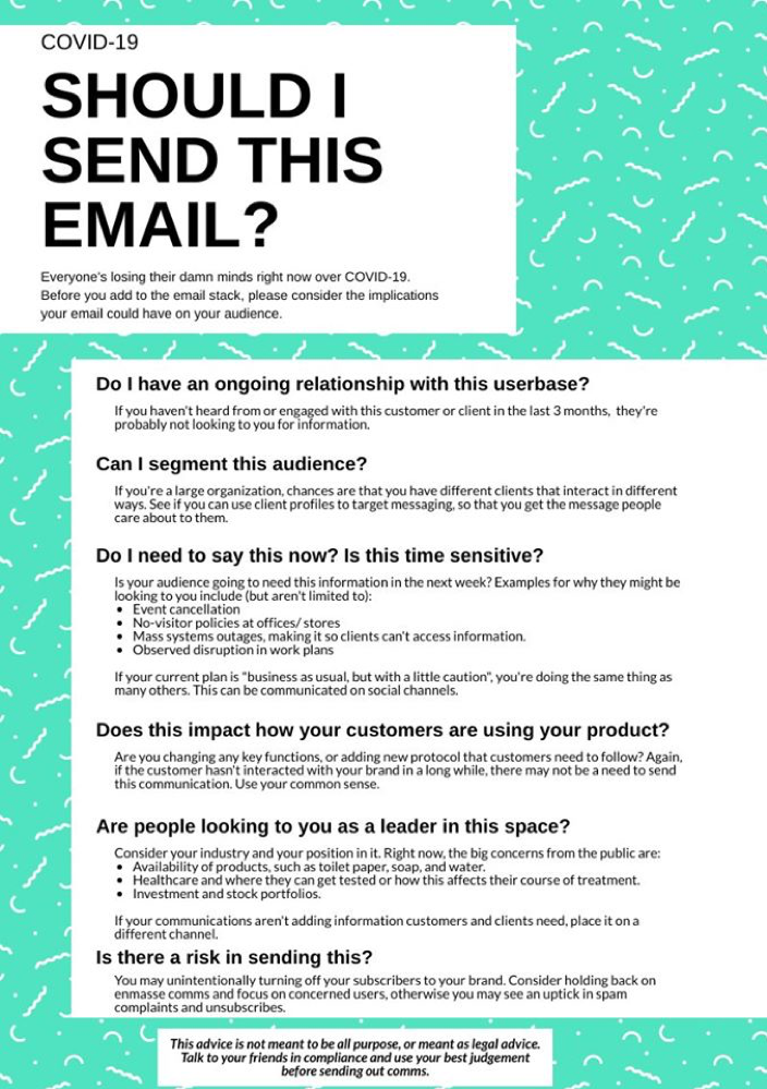 should you send an email?