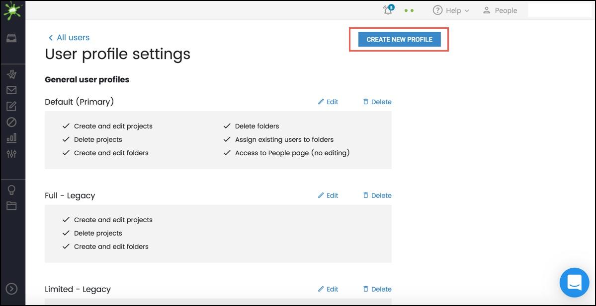 Click Create New Profile