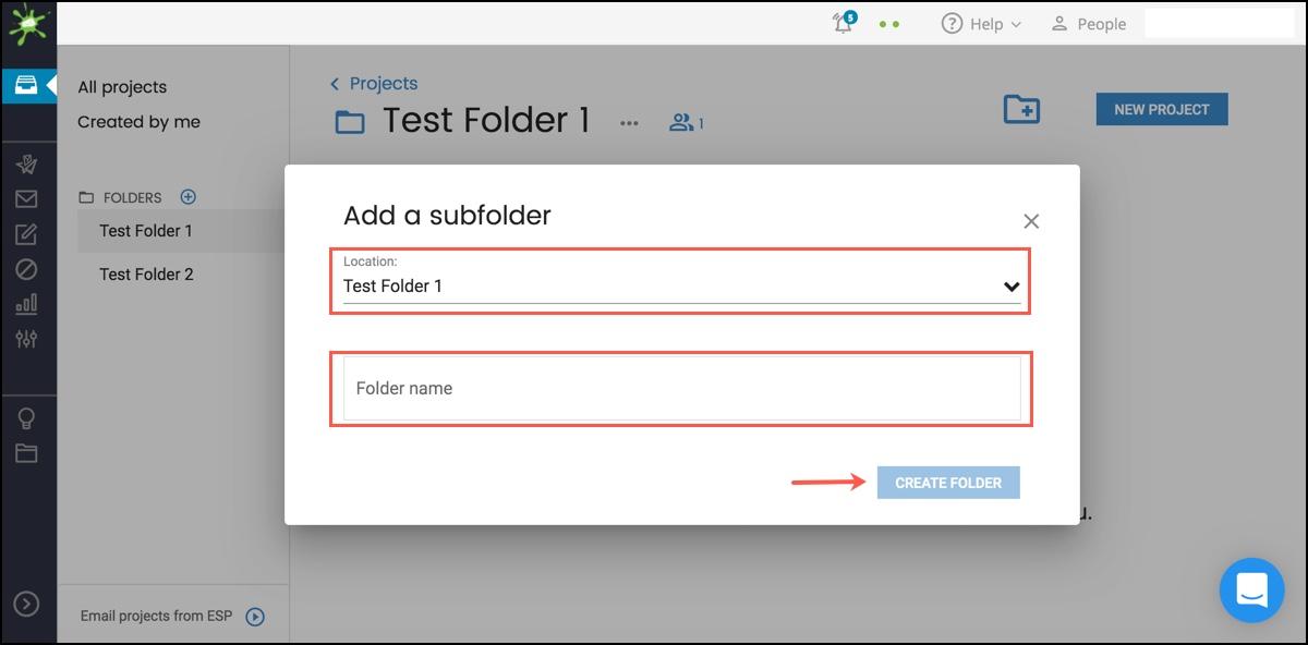 Create a Subfolder