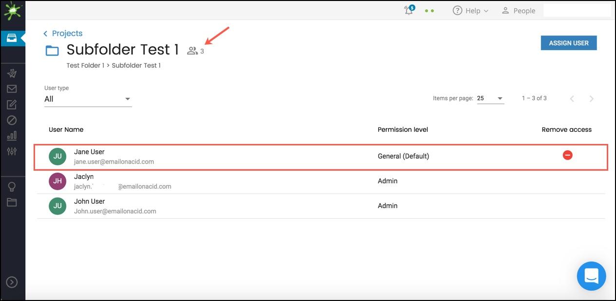 User Appears in Folder