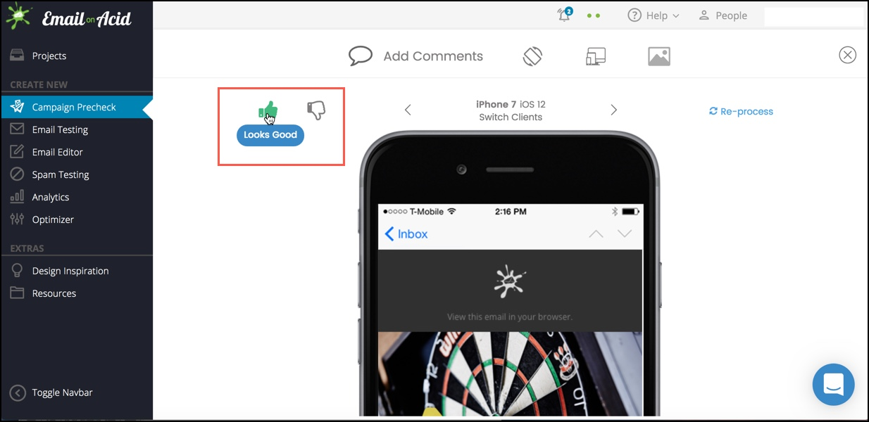 Thumbs Up and Down in collaboration tools for email
