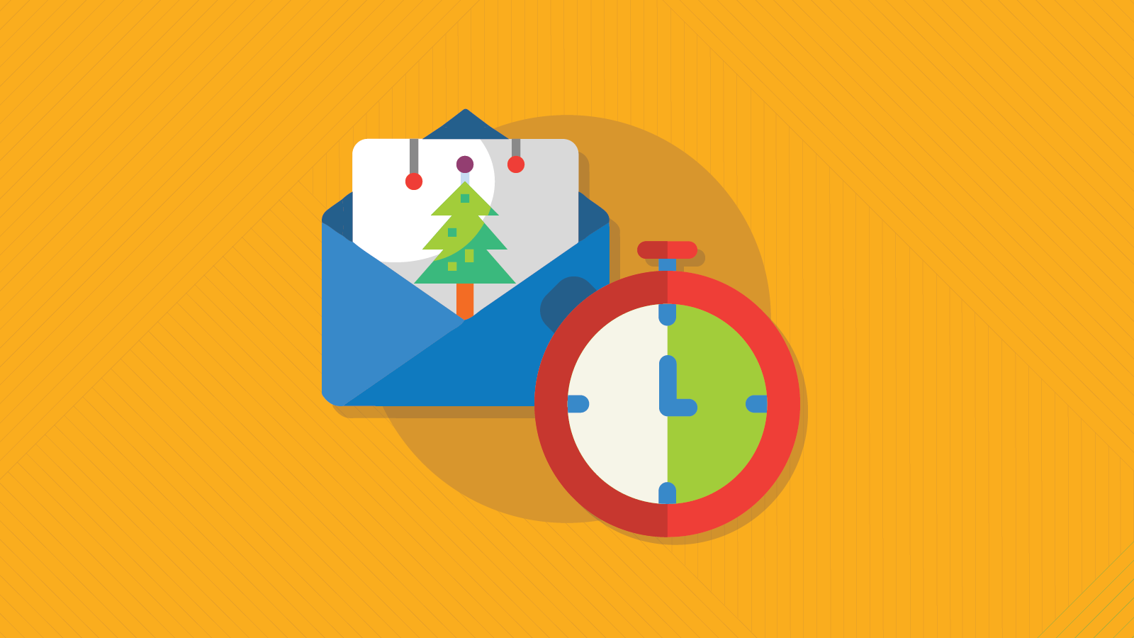 last minute holiday emails graphic