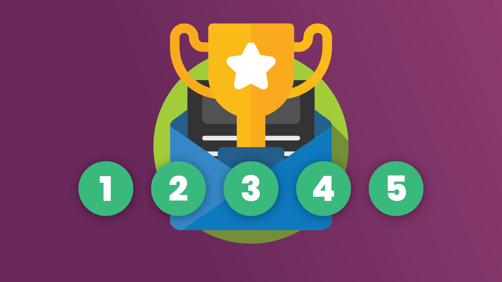 trophy graphic for email marketing habits