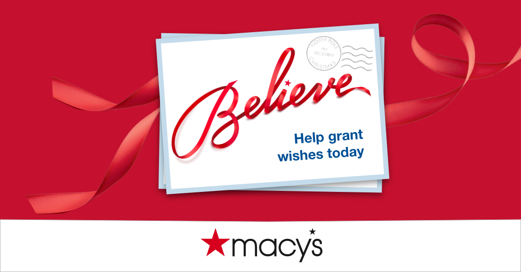 Macy's Make-a-Wish holiday campaign graphic
