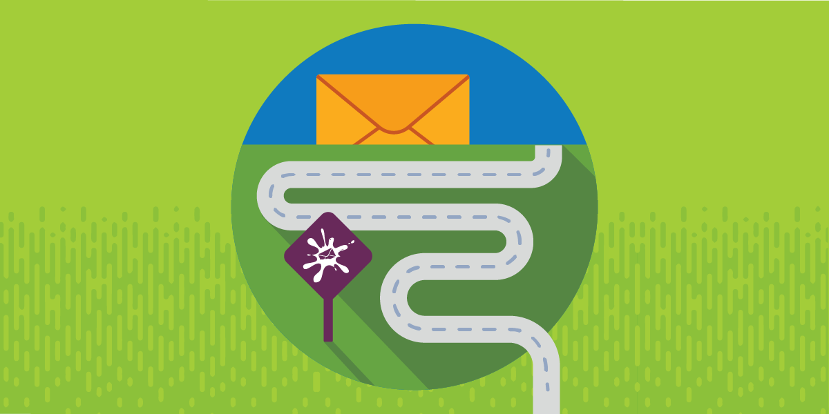 road leading to the email customer journey