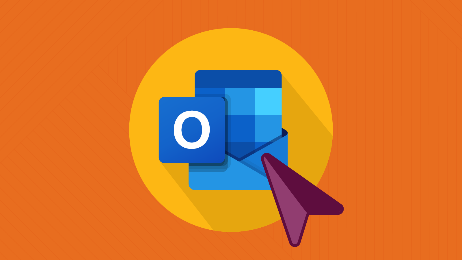 outlook logo with mouse cursor