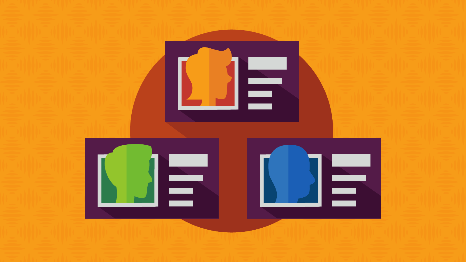 colorful email marketing persona icons