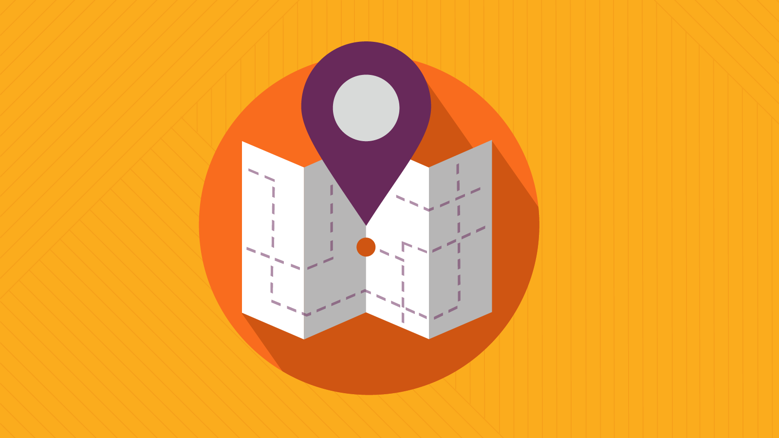 map indicator icon for customer journey mapping