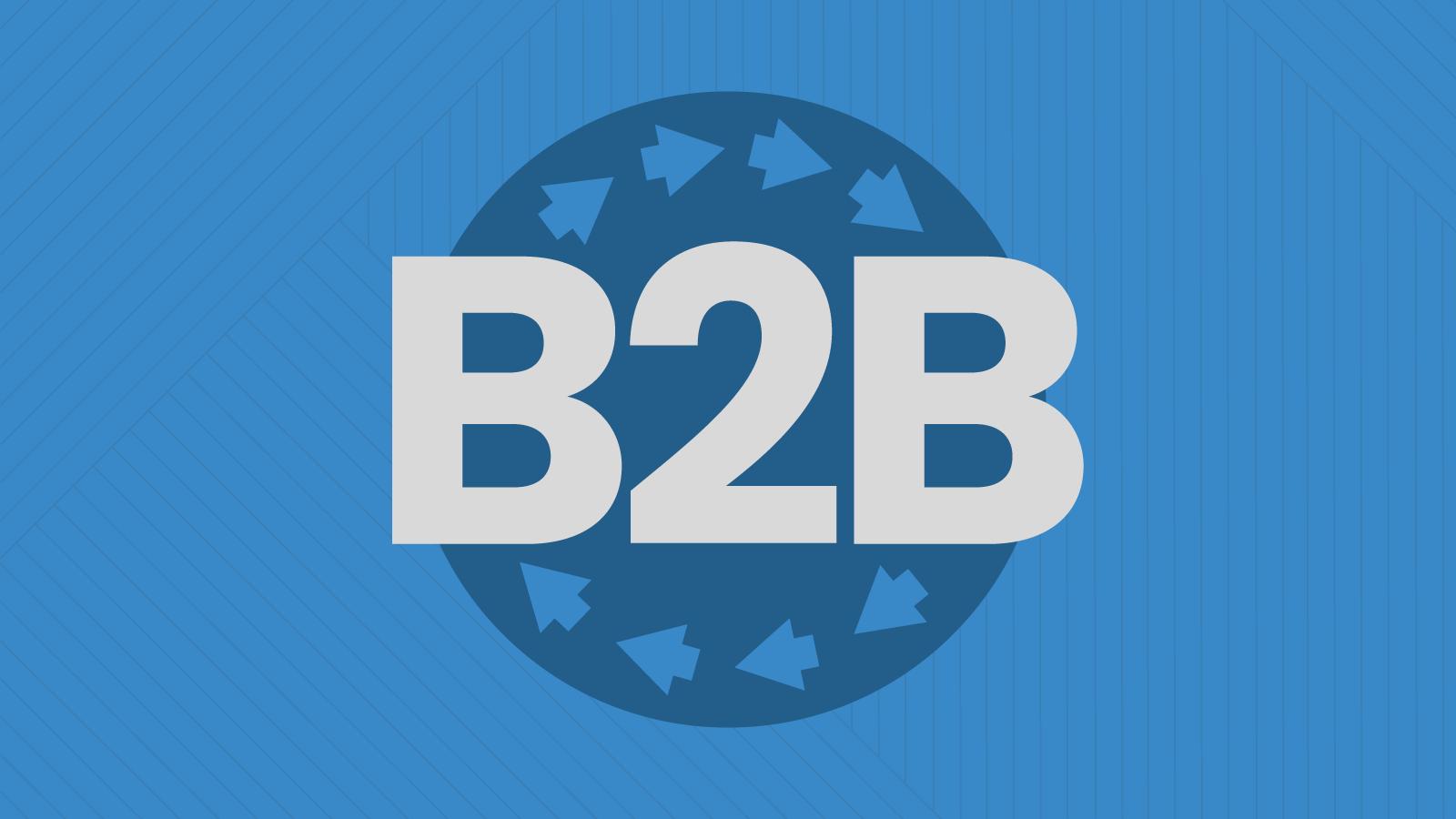 B2B with circular arrows