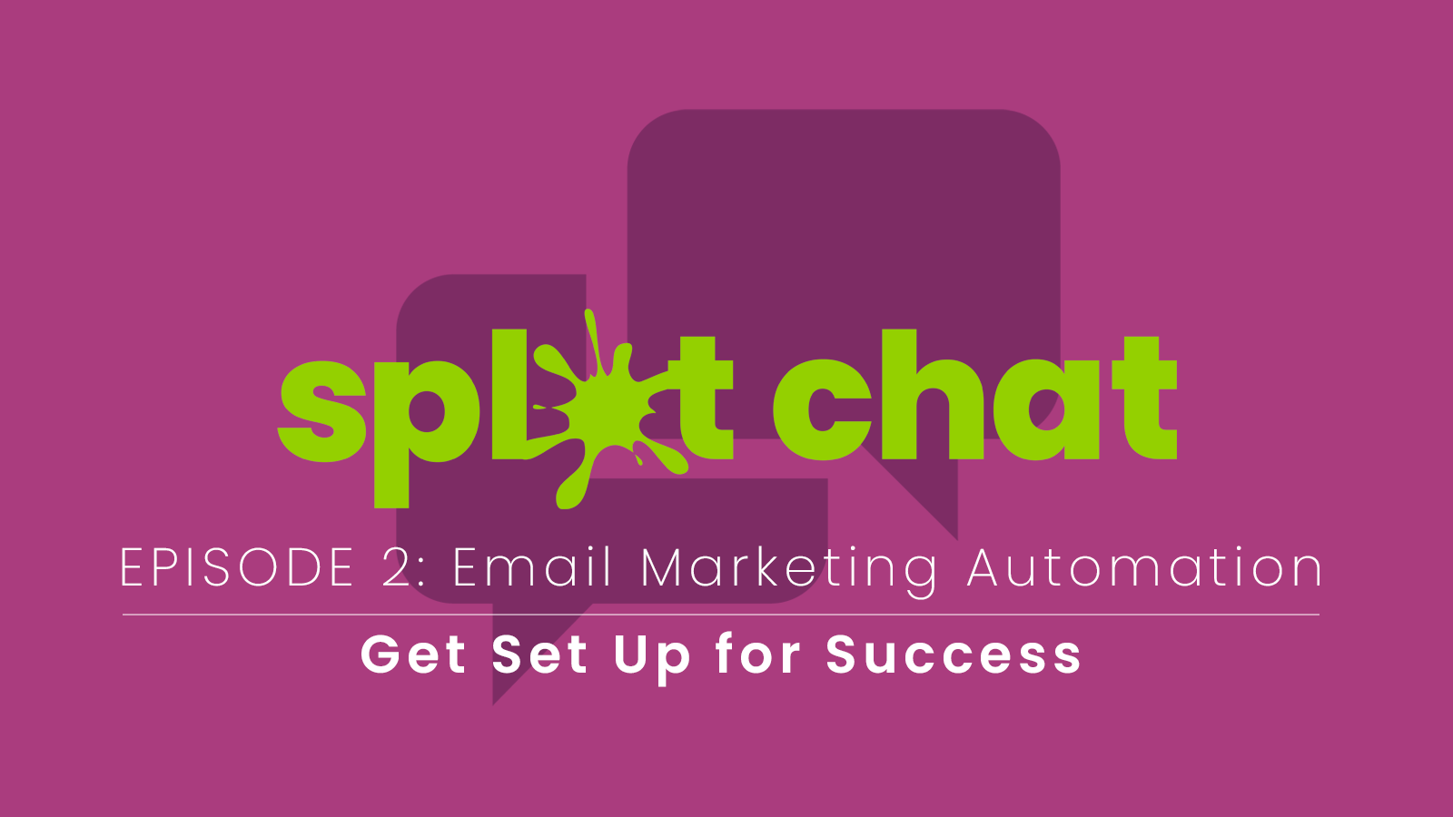 splat chat logo - email marketing automation success