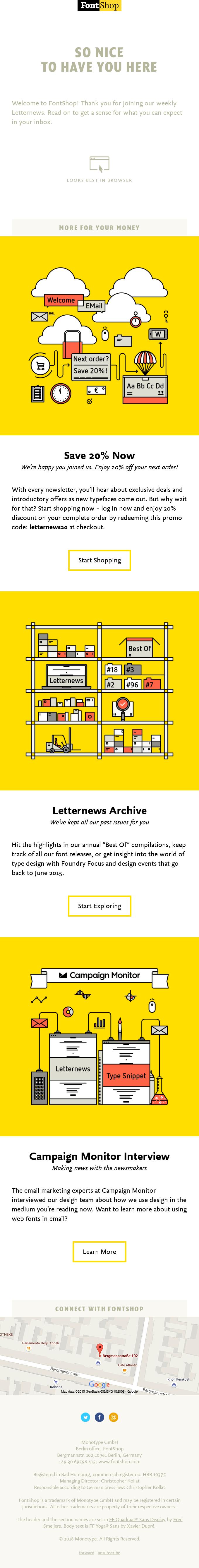 fontshop thank you email