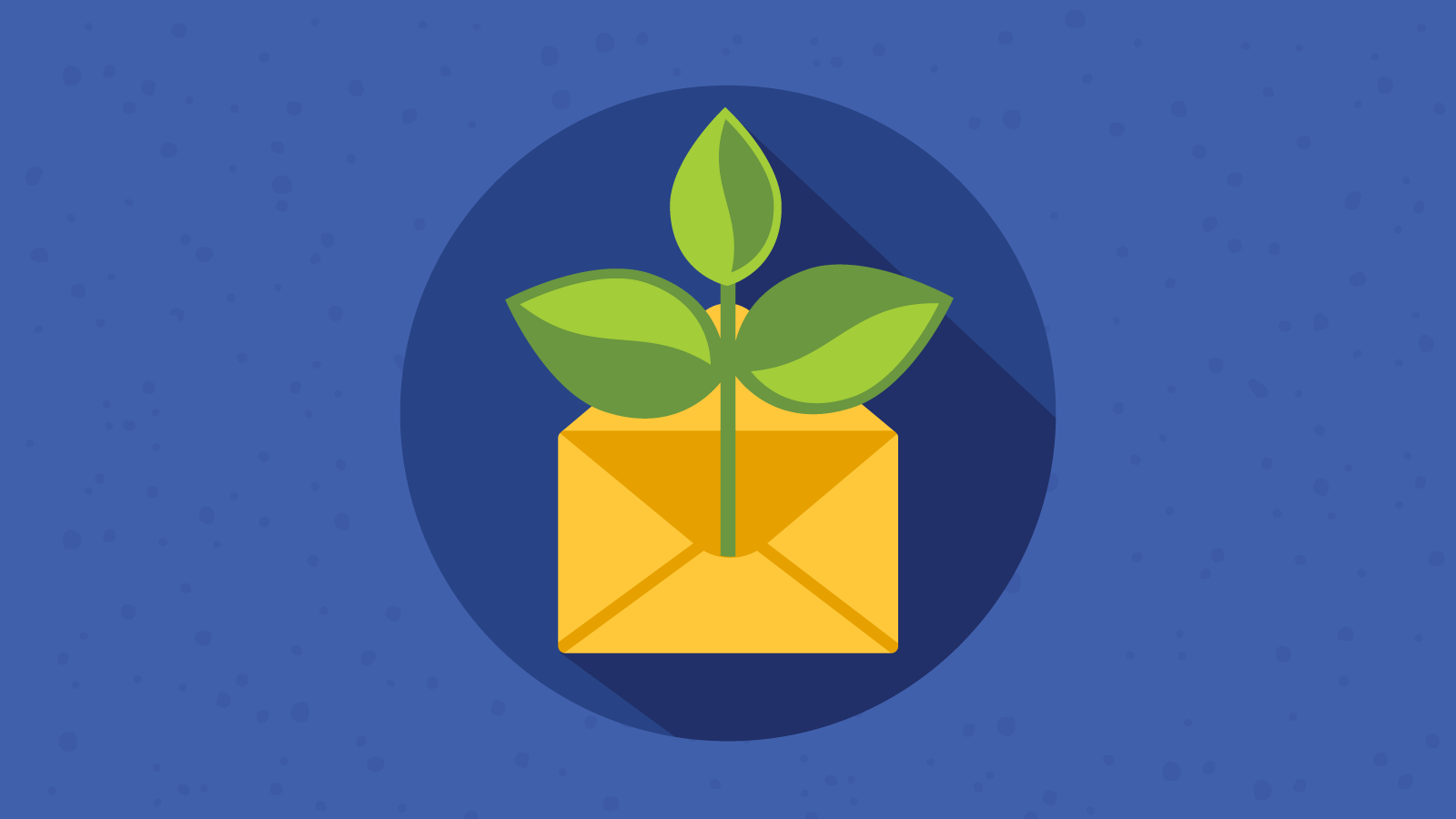 envelope with plant signifying sustainable email marketing