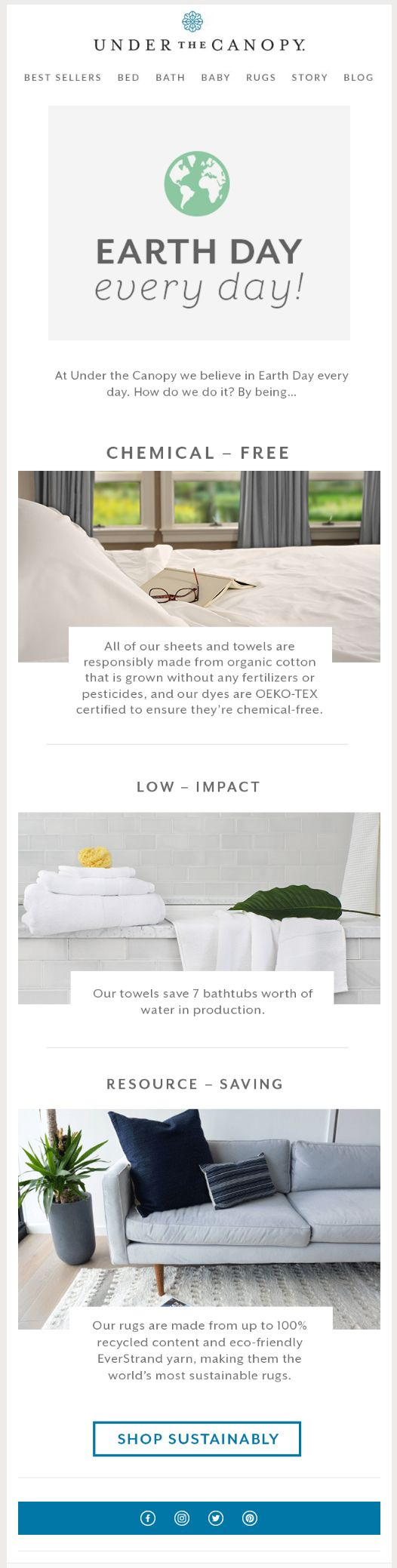 sustainable products email