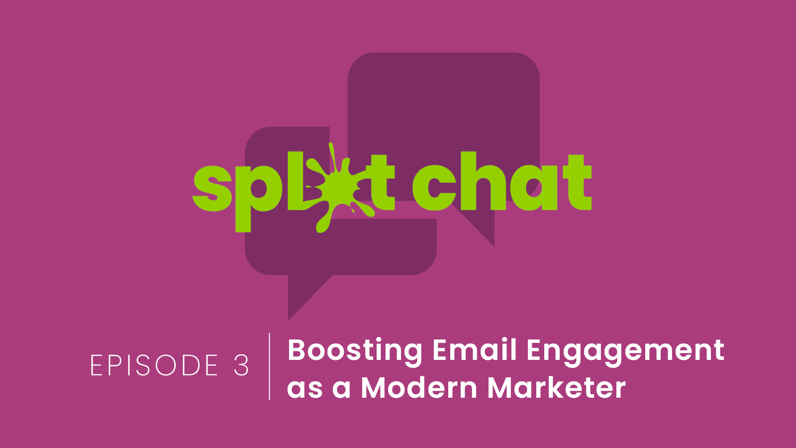 splat chat logo for engaging content episode
