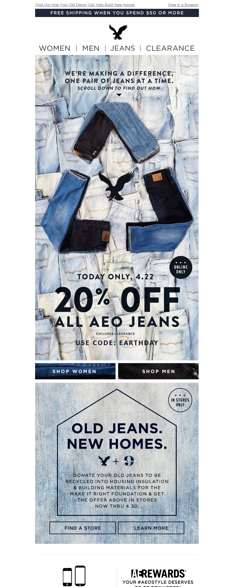 american eagle recycled jeans