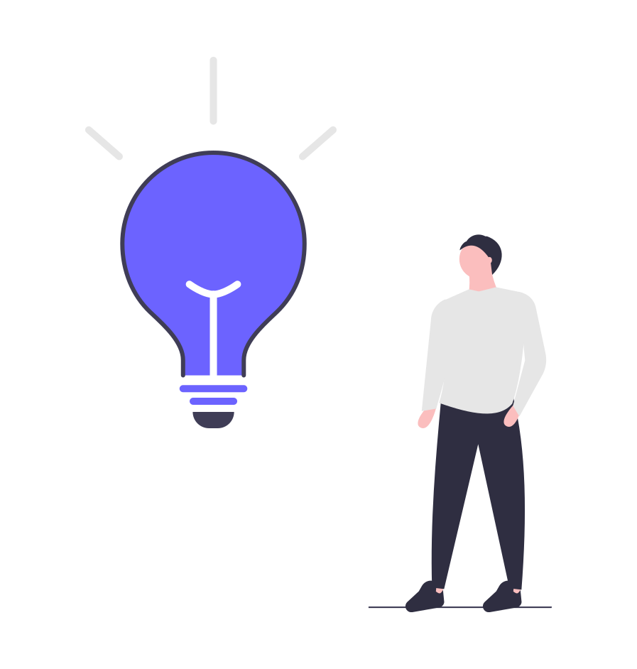 light bulb for thought leadership content ideas