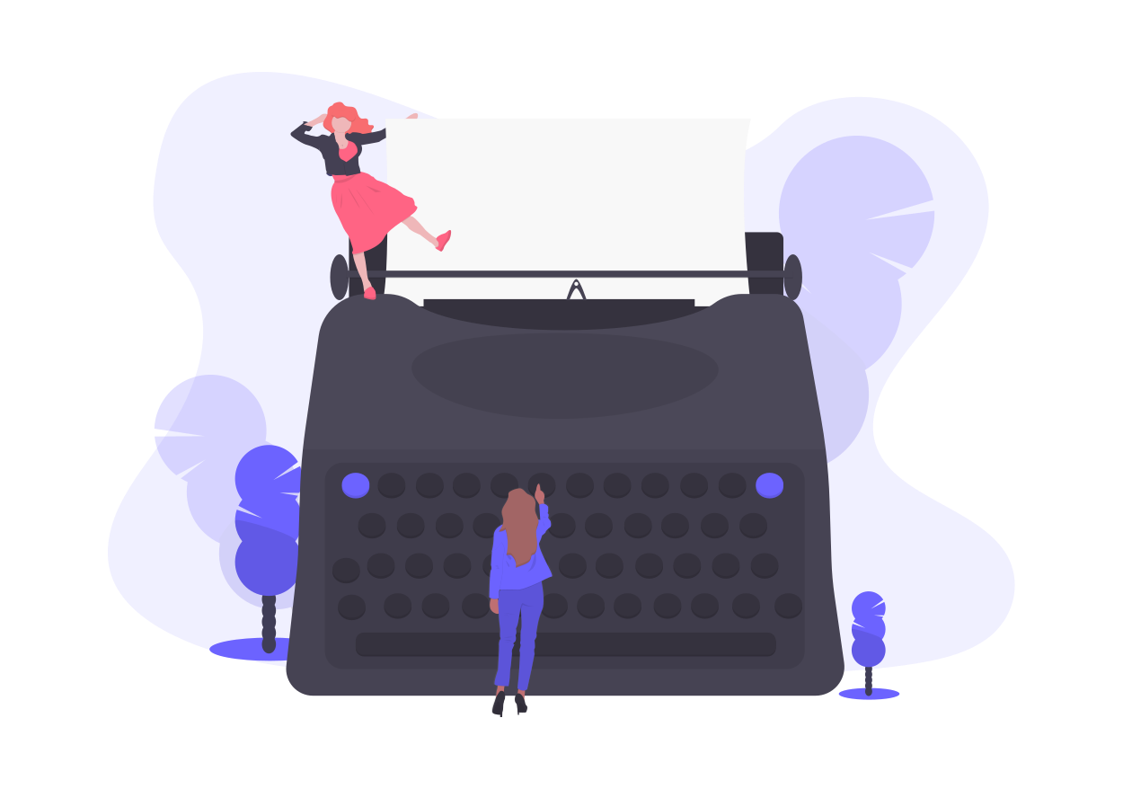 typewriter for creating thought leadership content