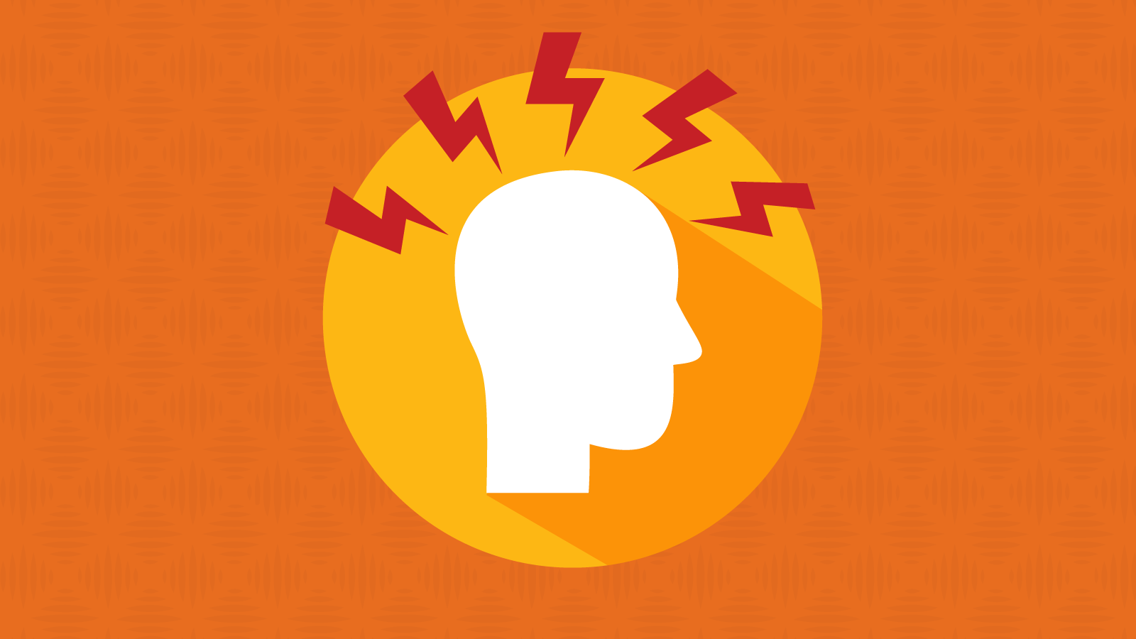 silhouette of a stressed marketer's head