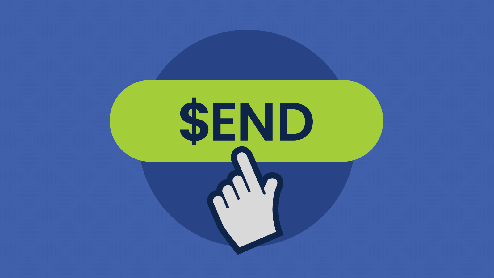 Finger clicks a send button with dollar sign that launches a paid newsletter