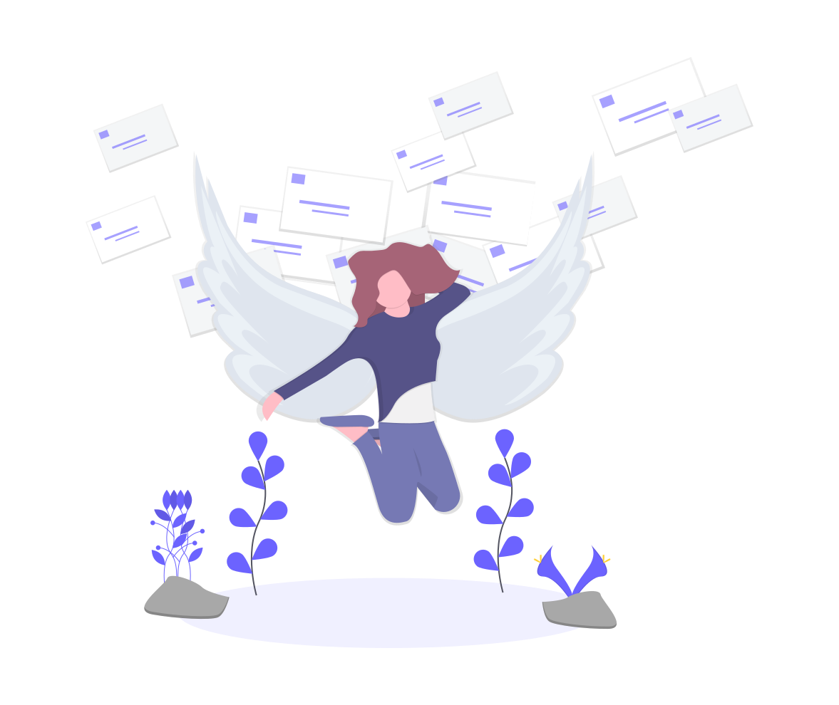 angel among non-original emails