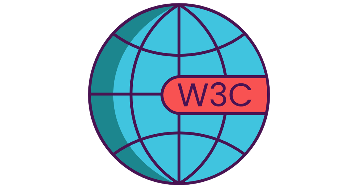illustrated W3C icon on a globe