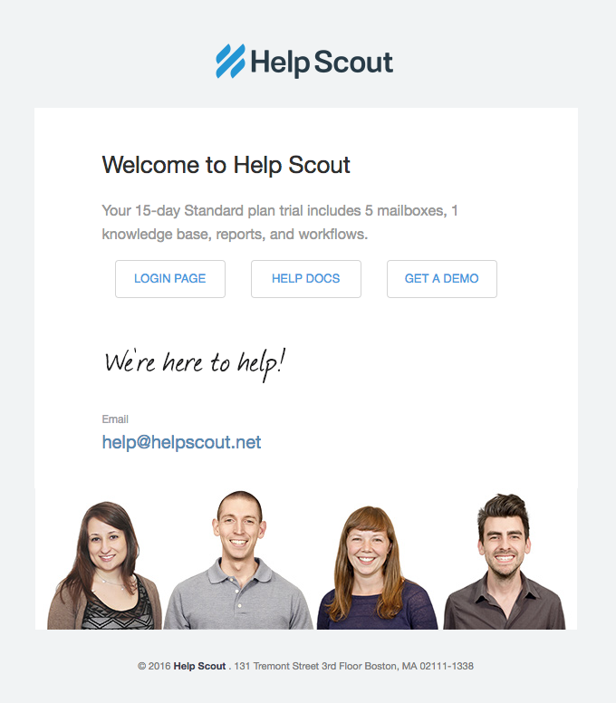 help scout welcome free trial