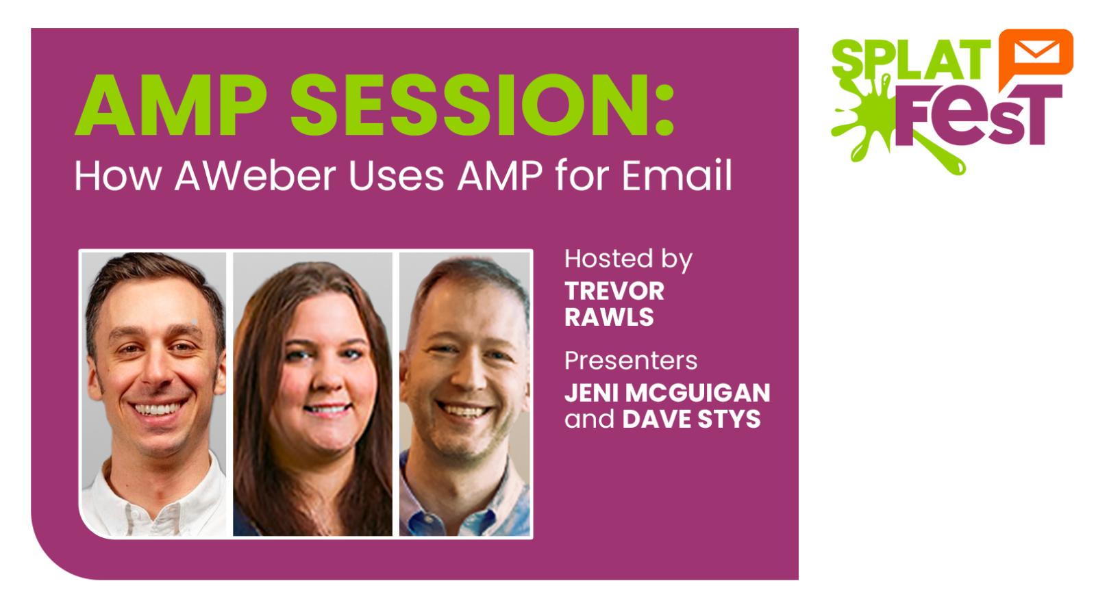Photos of AWeber team hosting AMP session