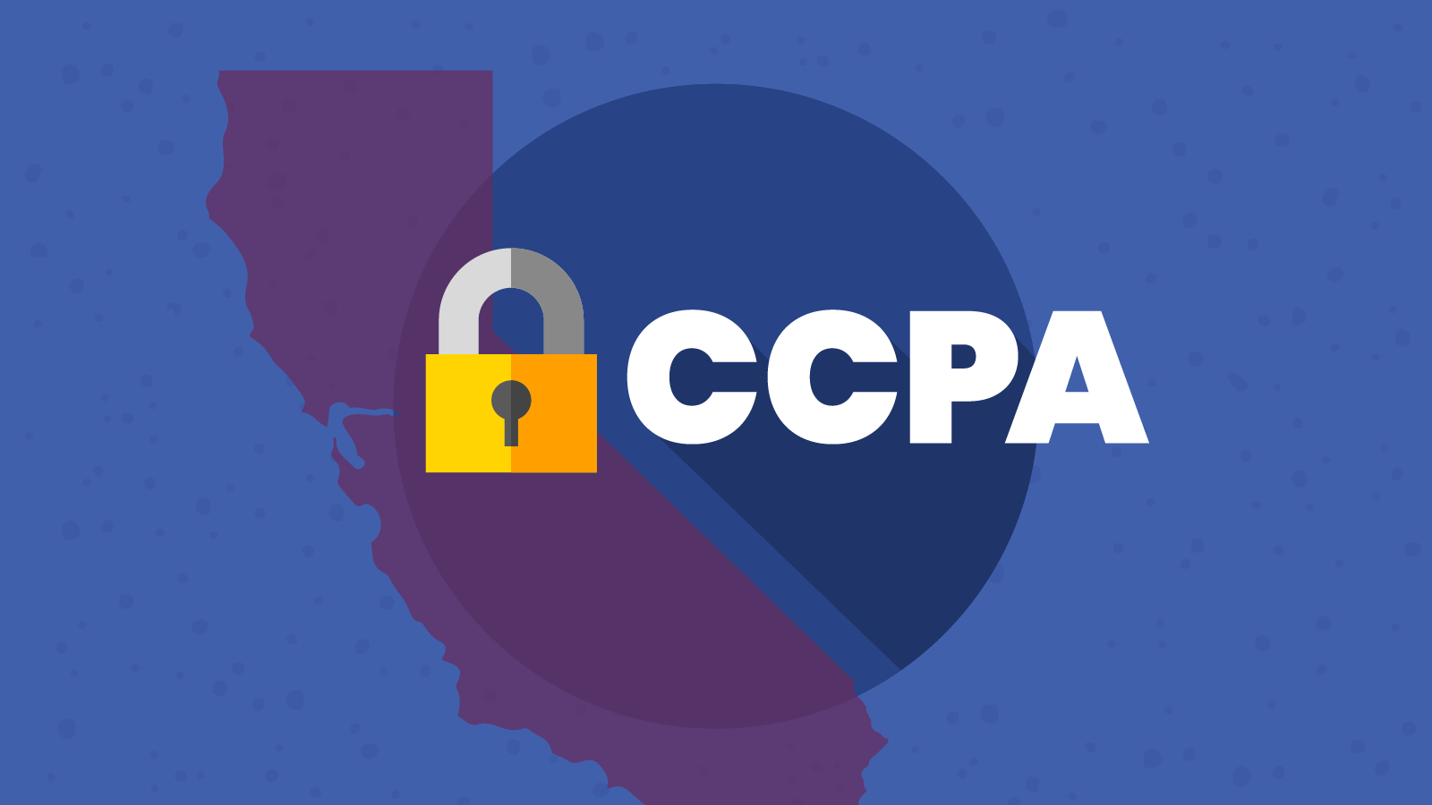 State of California with padlock illustrating CCPA compliance