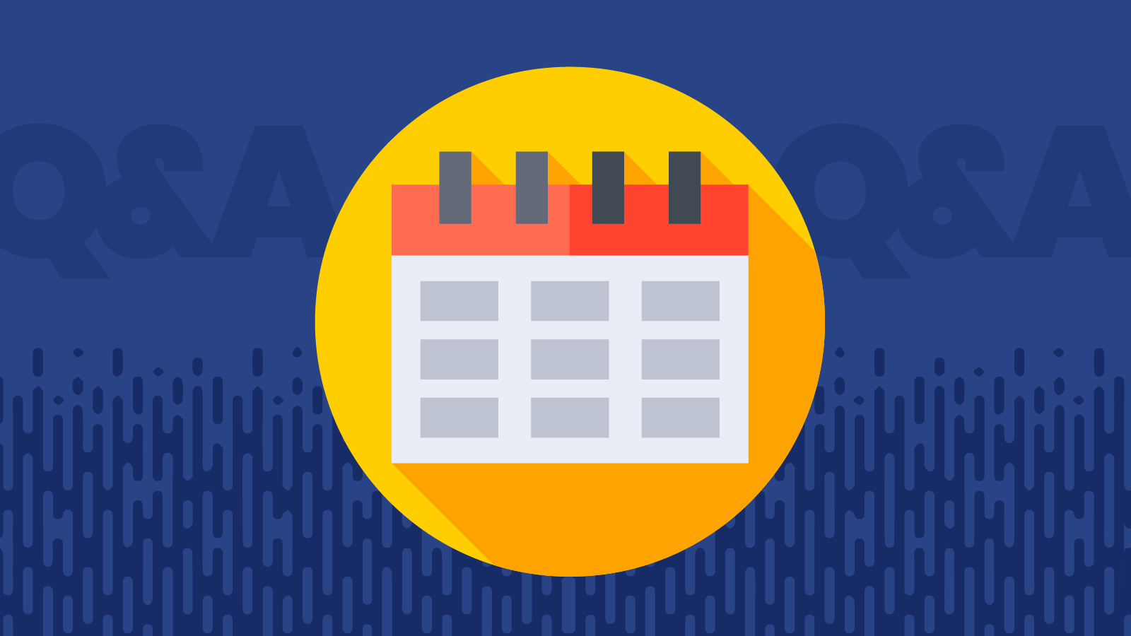 Illustration of a calendar for email project management