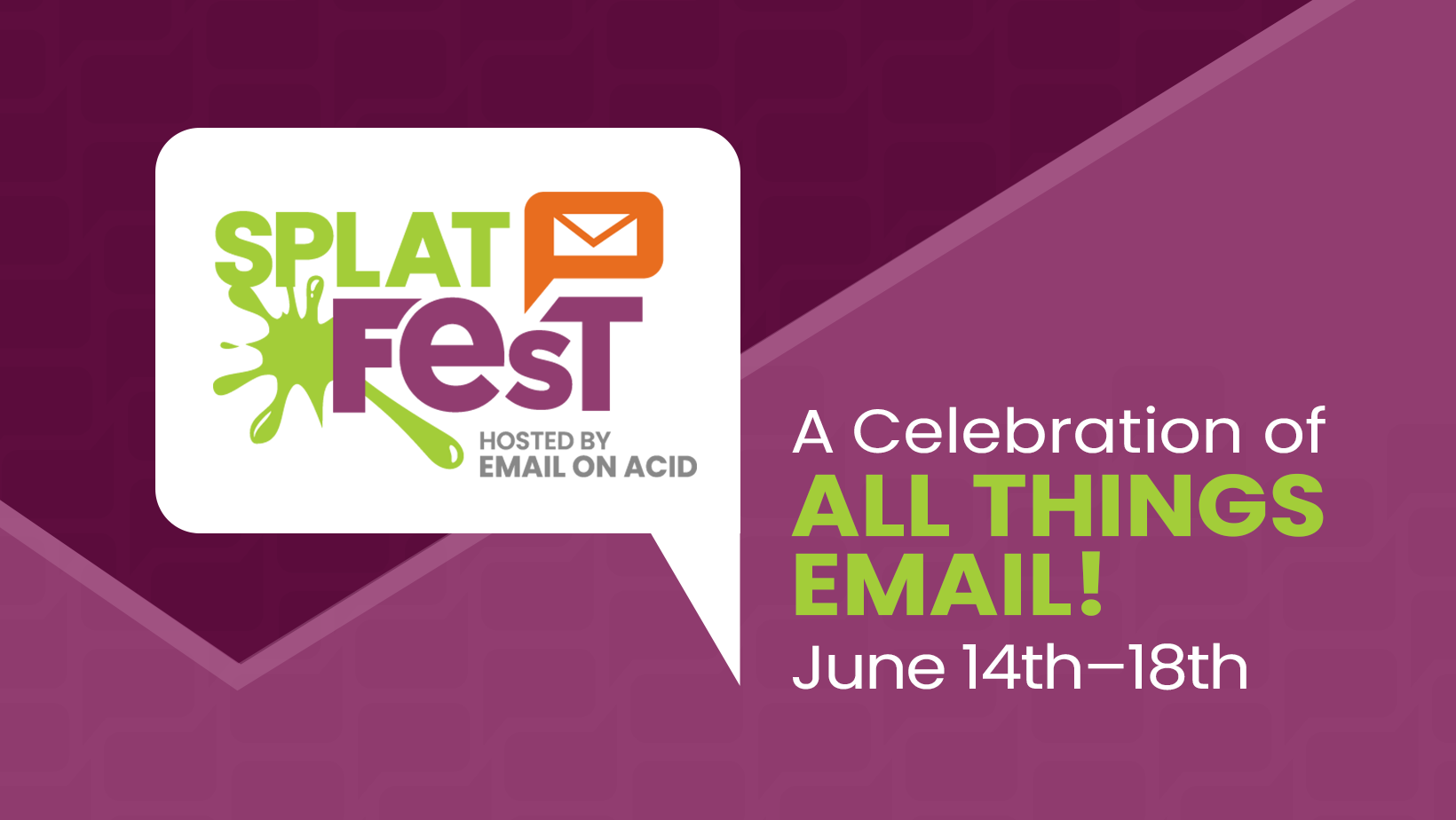 splat fest logo with dates  June 14 to 18