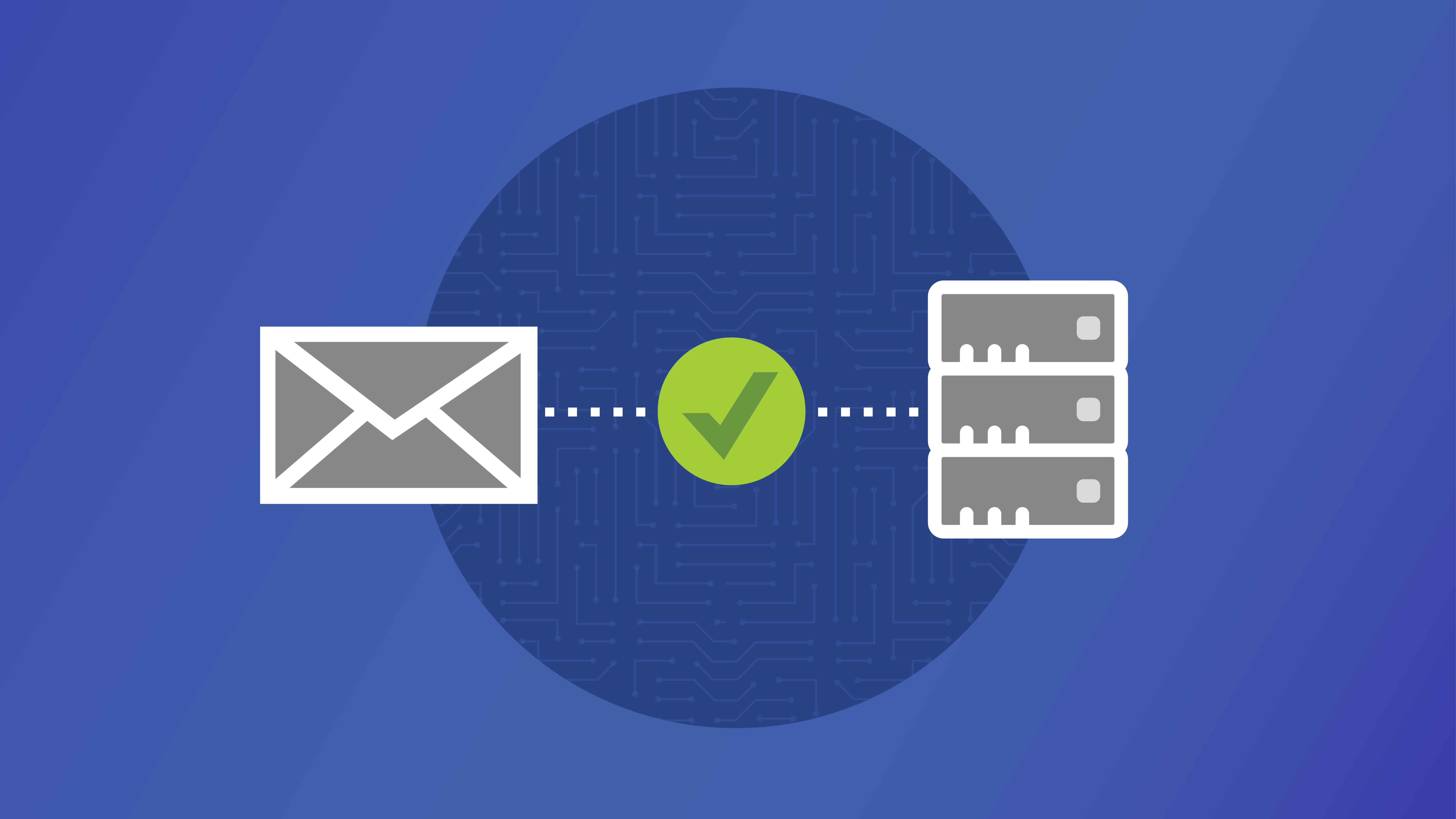 green check mark for SPF between envelope and mail server