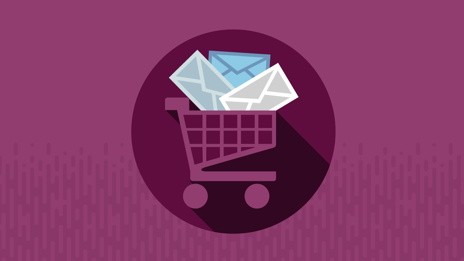 Shopping cart with retail emails inside