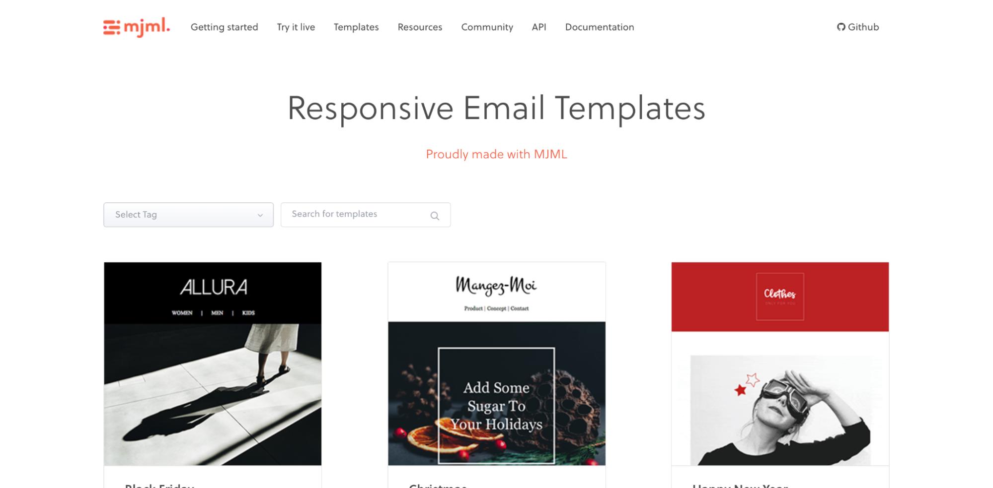 Free responsive MJML email templates